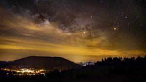 De Melkweg boven Allègre en La Potence